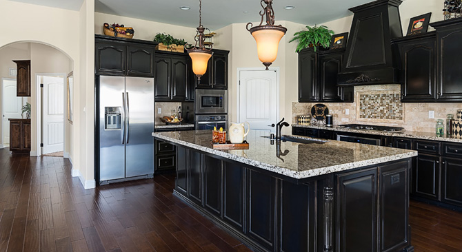 Froehlich signature homes for Model home kitchens